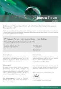 Impact Forum Zürich_Einladung