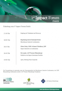 1st Impact Forum Agenda