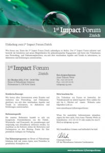 1st Impact Forum Einladung