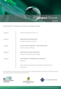 2nd Impact Forum Zuerich Agenda