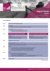 Agenda Impact Forum Berlin