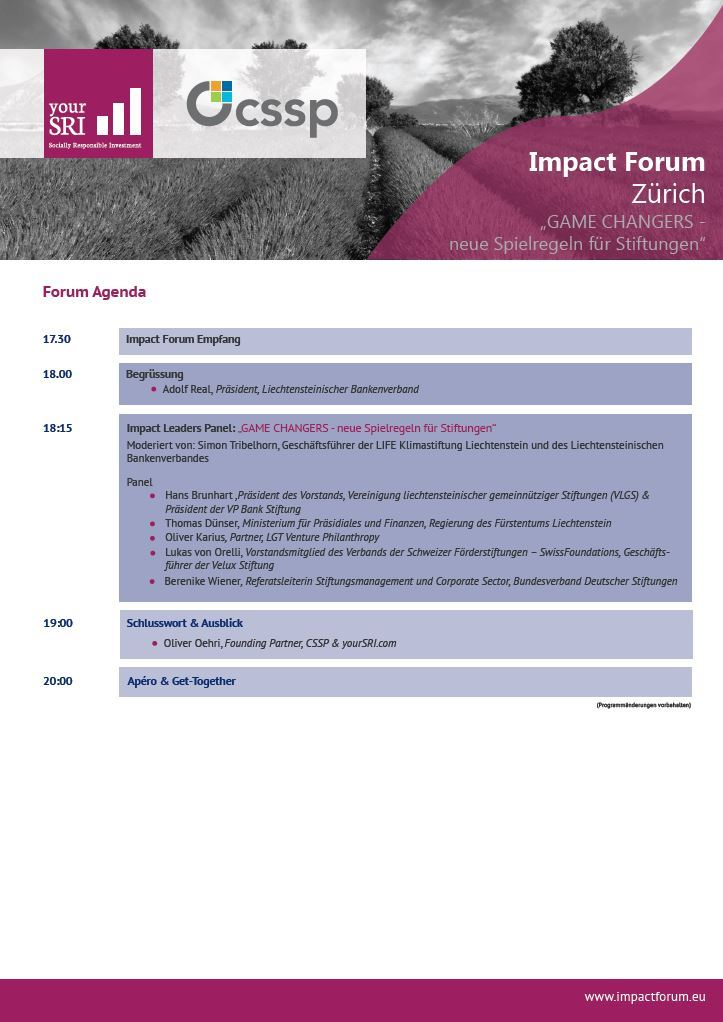 Impact Forum Zürich_Agenda