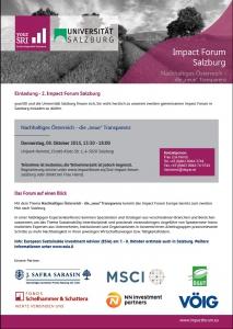 2nd Impact Forum Salzburg Einladung