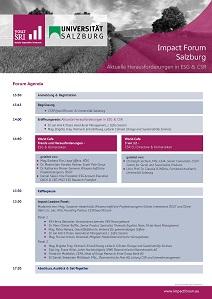 Impact Forum Salzburg Agenda