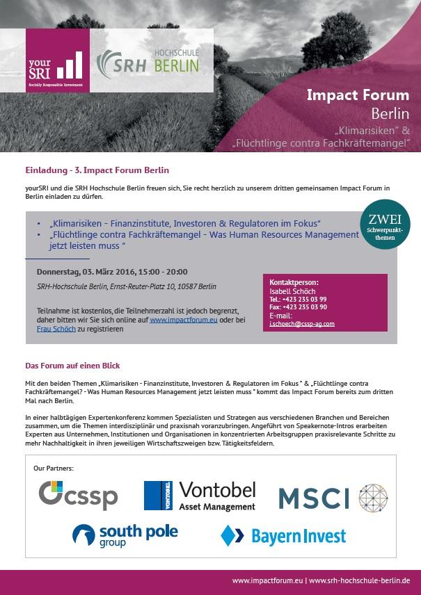 Einladung 3rd Impact Forum Berlin