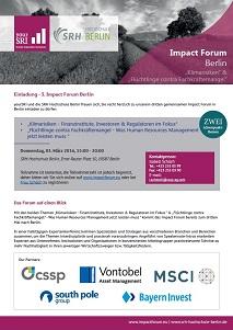 3rd Impact Forum Berlin Einladung