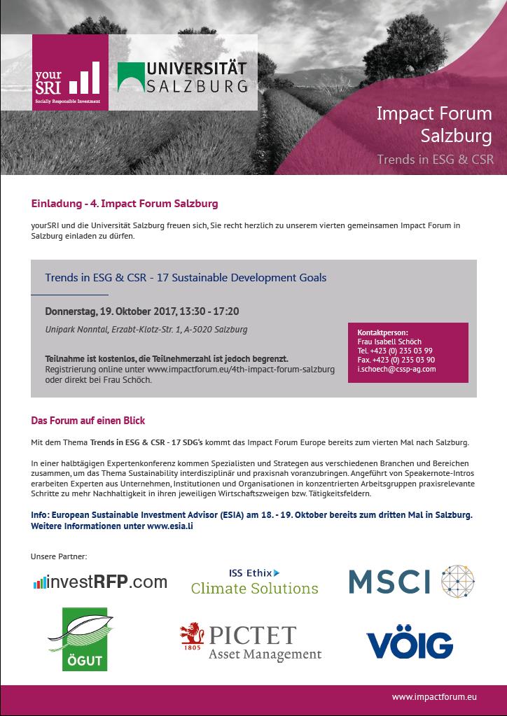 4th Impact Forum Salzburg