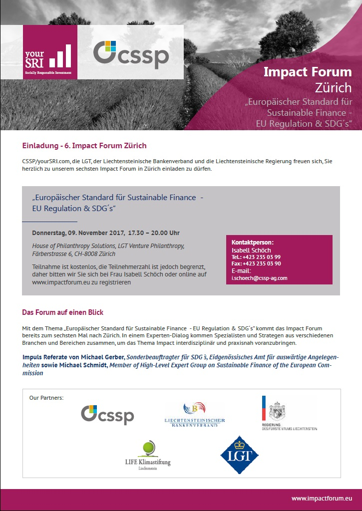 5th Impact Forum Zuerich