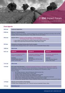 Impact Forum London Agenda