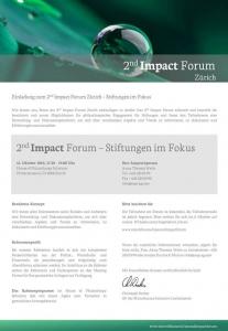 2nd Impact Forum Zuerich Einladung