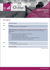 6th Impact Forum Zürich Agenda