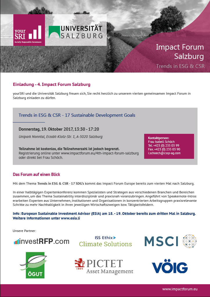 4th Impact Forum Salzburg
