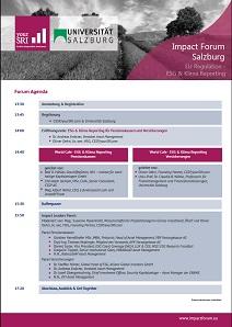 Impact Forum Salzburg Agenda 2018