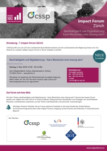 5th Impact Forum Zürich