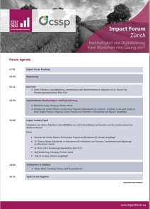 5th Impact Forum Zürich Agenda